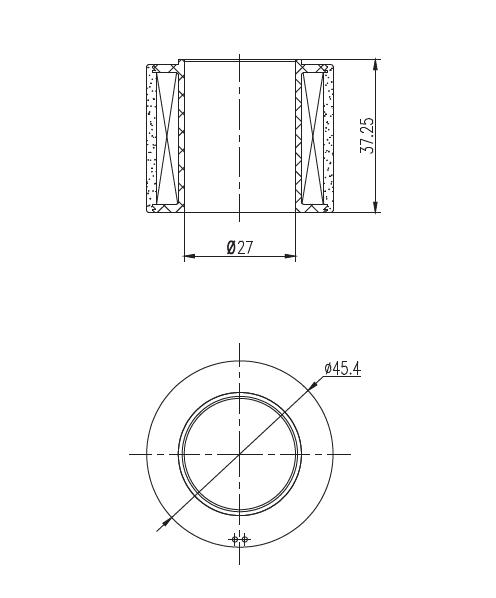 热塑性塑封类汽车车用电磁线圈结构尺寸